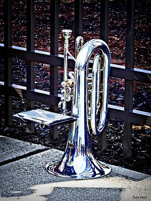 Photograph - Baritone Horn Before Parade by Susan Savad