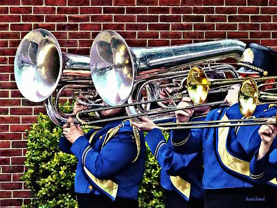 Photograph - Baritone Horns And Trombones by Susan Savad