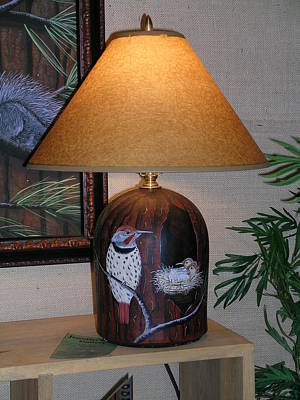 Painting - Bark Lamp by Jennifer Lake
