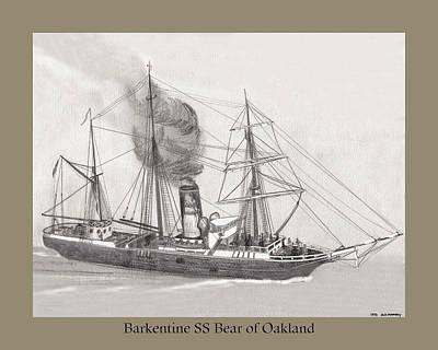 Barkentine Bear Of Oakland Art Print