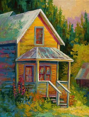 Older Houses Painting - Barkerville Orphan by Marion Rose