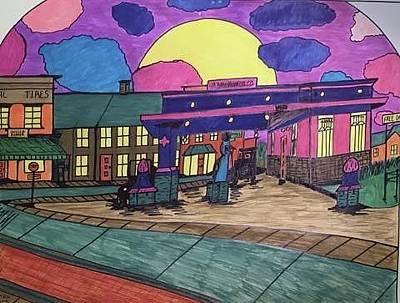 Barkhausen Filling Station. Original by Jonathon Hansen