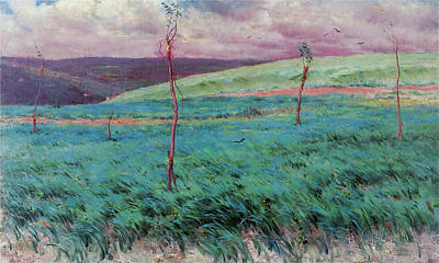 Photograph - Barley Field Giverny by Louis Ritter