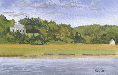 Cape Cod Painting - Barley Neck Cottages by Heidi Gallo