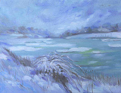 Painting - Barlow Pond Snowscapr by Mary C Haneline