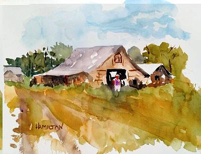Painting - Barn # 2 by Larry Hamilton