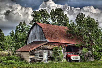 Photograph - Barn 1 by CA  Johnson