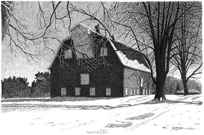 Barn 24 Maplenol Barn Art Print by Joel Lueck
