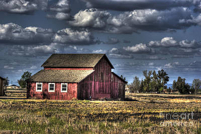 Photograph - Barn After Storm by Jim and Emily Bush