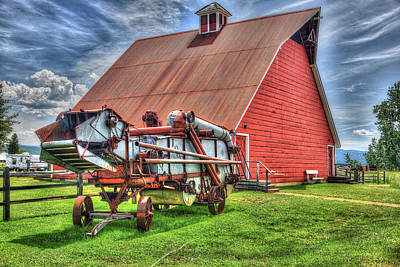 Photograph - Barn And Bailer by Richard J Cassato