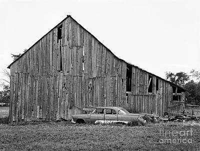 Photograph - Barn And Chevy by Lionel F Stevenson