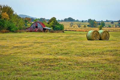 Barn And Field Art Print