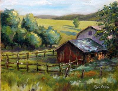 Painting - Barn And Field by William Reed