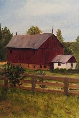 Painting - Barn And Milk House by Betty Pimm