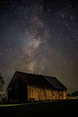 Photograph - Barn And Milky Way Close-up by Tim Kirchoff