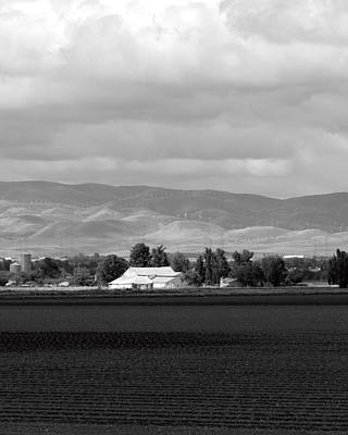 Barn And Plowed Fields Tracy Ca Art Print by Troy Montemayor