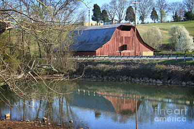 Barn And Reflections Art Print
