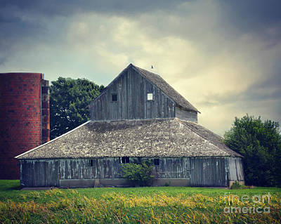 Photograph - Barn And Silo by Kathy M Krause