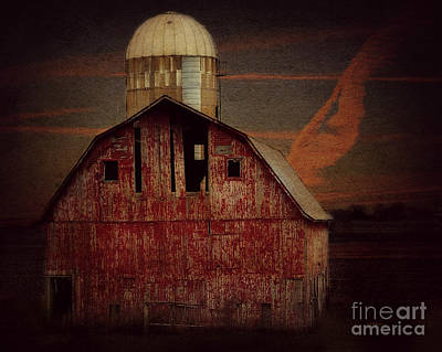Photograph - Barn And Silo Near Brushy Creek by Kathy M Krause