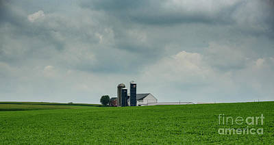 Photograph - Barn And Silos by Debra Fedchin