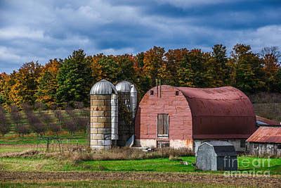 Photograph - Barn And Silos by Grace Grogan