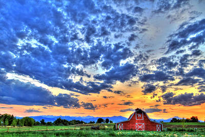 Barn Red Photograph - Barn And Sky by Scott Mahon