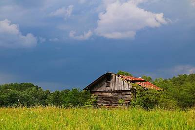 Photograph - Barn And Stormy Sky by Kathryn Meyer