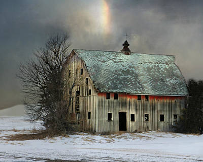 Barn And Sundog Art Print