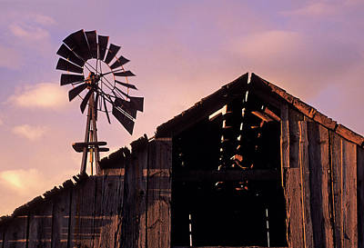 Photograph - Barn And Windmill by Doug Davidson