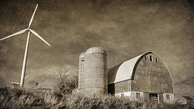 Photograph - Barn And Windmill by Susan McMenamin