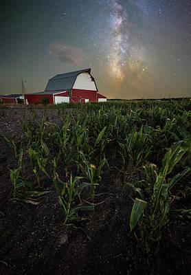 Photograph - Barn Astronomy 2  by Aaron J Groen