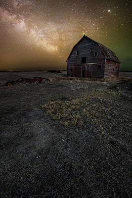 Photograph - Barn Astronomy 3 by Aaron J Groen