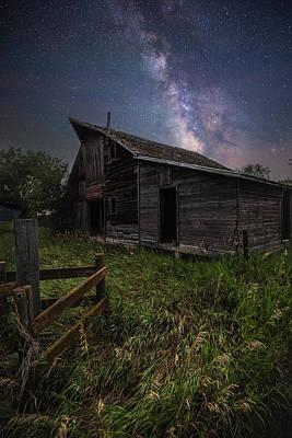 Photograph - Barn Astronomy  by Aaron J Groen