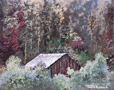 Tennessee Barn Painting - Barn At Cades Cove by Todd A Blanchard