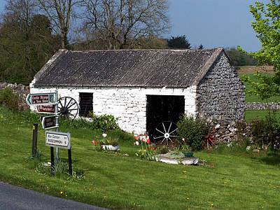 Wagon Wheels Photograph - Barn At Fuerty Church Roscommon Ireland by Teresa Mucha