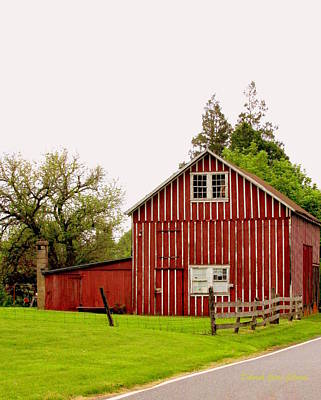 Photograph - Barn At Granite Run by Deborah  Crew-Johnson