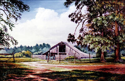 Painting - Barn At Honey Island by Randy Welborn