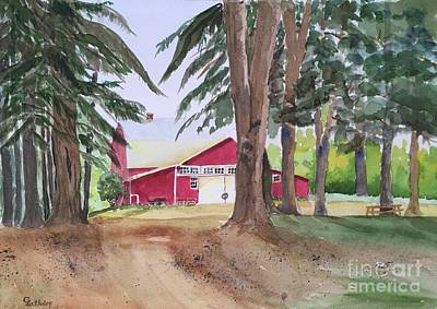 Painting - Barn At Howland Preserve by Christine Lathrop
