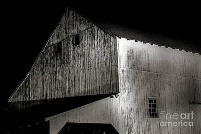 Garden Fruits - Barn at Night by David Rucker