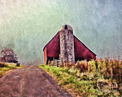 Photograph - Barn At Red Sulphur  by Kerri Farley
