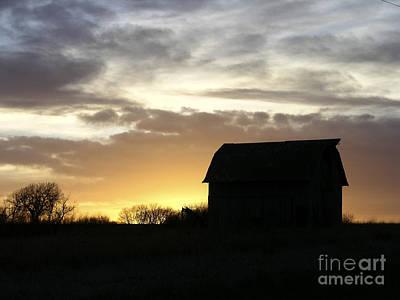 Photograph - Barn At Sunset by Martha Johnson