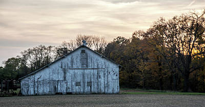 Photograph - Barn At Sunset by Randall Branham
