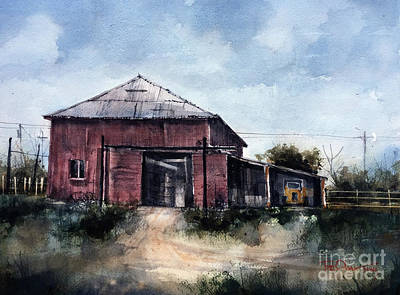 Painting - Barn At The Bar Y Bar by Tim Oliver