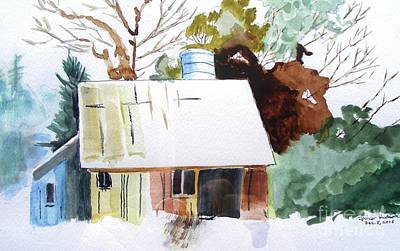 Tn Barn Painting - Barn At The Edge Of The Woods by Spencer Hudson