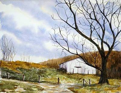 Barn At The Stage Stop Art Print by Travis Kelley