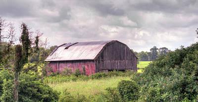 Photograph - Barn Awaiting A Rain Storm by Douglas Barnett