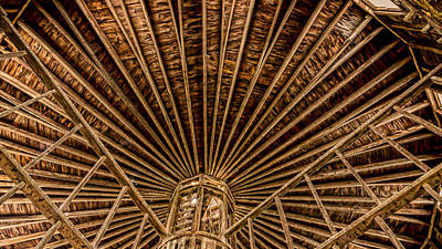 Round Barn Photograph - Barn Beams by Stephen Stookey