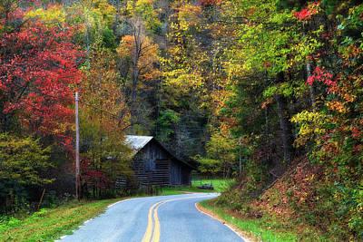 Barns Photograph - Barn Beside The Road by Jill Lang