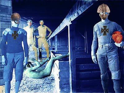 Digital Art - Barn Boys by Doug Duffey