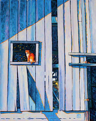 Painting - Barn Cat by Stacey Neumiller